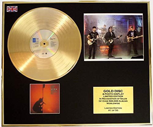 U2/CD Disco de Oro/Disco & Foto Display/Edicion LTD/Certificato di autenticità/UNDER BLOOD RED SKY