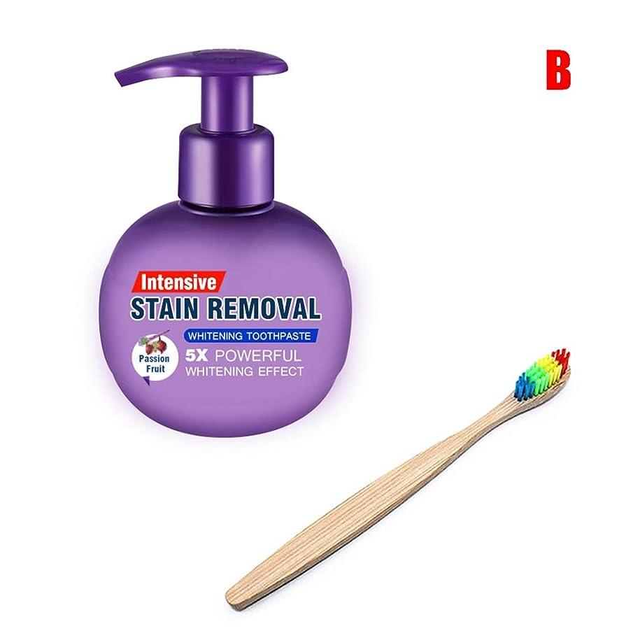 元に戻す中傷安心MAYouth ホワイトニング歯磨き粉 歯を磨くための歯ブラシで歯磨き粉アンチブリーディングガムを白くする集中的な汚れ除去剤