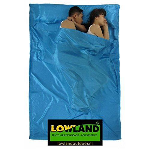 LOWLAND OUTDOOR Sac de Couchage de Refuge pour 2 Personnes, Bleu, 220 x 160 cm