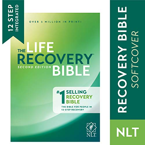 Tyndale NLT Life Recovery Bible (Softcover): 2nd Edition - Addiction Bible Tied to 12 Steps of Recovery for Help with Drugs, Alcohol, Personal Struggles  With Meeting Guide