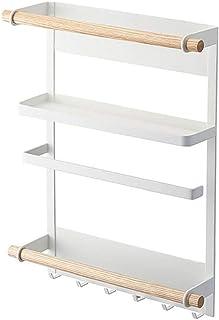 Réfrigérateur à épices Réfrigérateur épices étagère de rangement suspendu Mont Holder cuisine Organisateur en métal avec d...