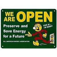 プラスチック看板 『レディキロワットオープン/グリーン』 CA-55 ReddyKilowatt アメリカ雑貨 アメリカン雑貨