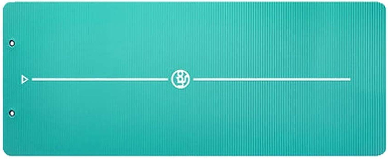 KYCD Yoga-Matte, Verbreiterte Dicke Rutschfeste Mnner Und Frauen Sportmatte Fitness Anfnger 15mm Krpergeführt Suspension Lagerung, 185 × 80 cm