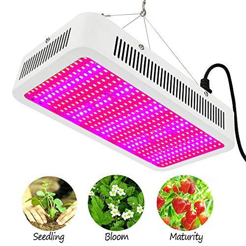 E-kinds LED Grow Lights, 600W Vollspektrum-LED-Hydrokulturlampen mit IR- und UV-Befestigung für Samen oder Gewächshausgemüse, Zelt für Blütenpflanzen