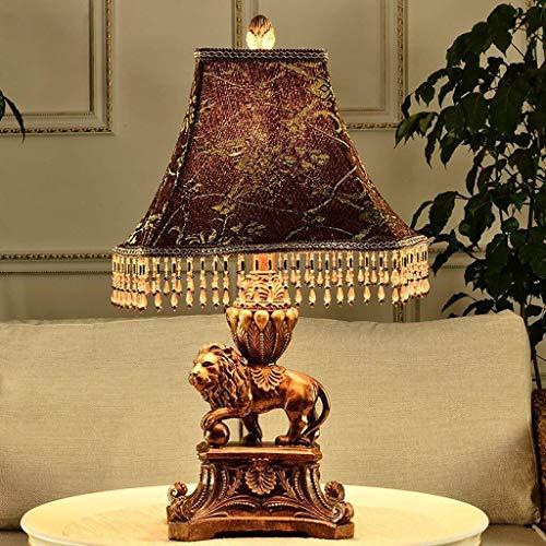 RONGW JKUNYU Lámparas de Mesa, Personalidad Simple clásica Europea Tabla Decorativa Luces Que encienden La Sala Den Dormitorio Mesilla de Noche con iluminación Lectura luz de la Noche