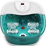 Foot Bath, Infrared Massage Device and Bubble Vibrations, Detachable Pumice Stone, Medication Box, 4 Massage Rollers, Relieve Stress on the Feet