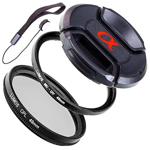 LUMOS Creative 49mm MC UV CPL Filter Set uneingeschränkt kompatibel mit Sony Alpha Objektiven mit 49mm Filtergewinde wie SEL-55210