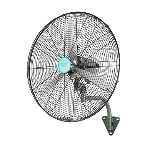 CRZ Ventilador de Pared de Grado Industrial, Ventilador eléctrico de Alta Potencia, oscilante de Alta Velocidad/Ajustable de 3 velocidades, Servicio Pesado para Comercial/Interior/Exterior
