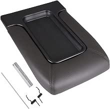OCPTY Auto Center Console Lid Repair Kit for 2001 2002 2003 2004 2005 2006 2007 GMC Sierra Chevrolet Silverado(Dark Grey)