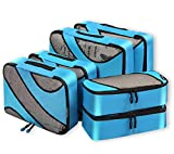 Bagail 6 Set Packing Cubes,3 Various Sizes Travel Luggage Packing Organizers(Blue)