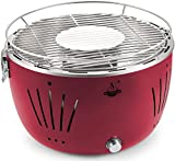 Holzkohlegrill 'Tulsa' von El Fuego Grill BBQ Barbecue, Farbe Rot, USB-Anschluss, Batterie, Rauchfreies Grillen, inkl. Tragetasche AY 5253