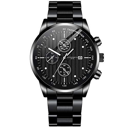 Armbanduhr,Automatik,Smartwatch,Mechanische Uhren,Uhr,Retro,Geschenk für Ehemann und Vater,Schwarzes blau Gold,Riemenlänge: 260 mm