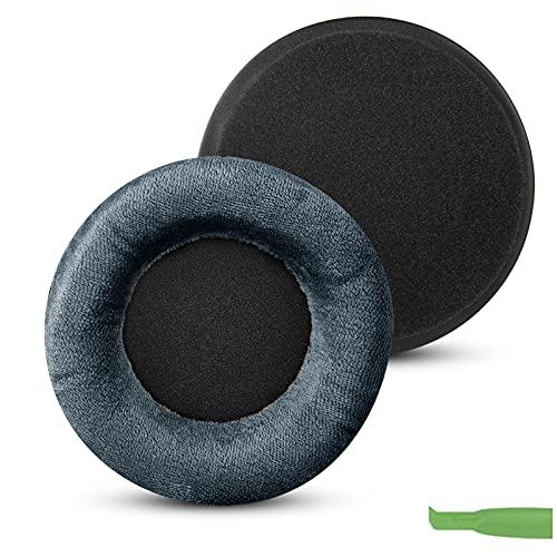 Geekria Comfort Velour - Almohadillas de repuesto para auriculares Beyerdynamic DT440 DT770 DT790 DT797 DT860 DT880 DT990 T5P T70 T90 HS200 HS400 HS800 MMX300 RSX700 (azul)