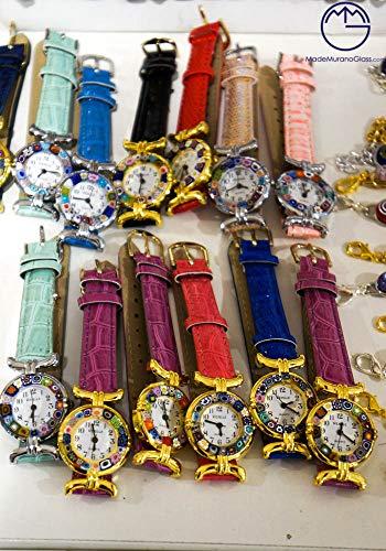 100 Armbanduhren aus Muranoglas mit Murrina Millefiori