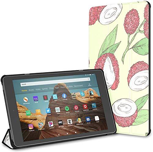 Custodia per tablet Chinese Delicious Lychee Fire Hd 10 (9a settima generazione, versione 2019 2017) Custodia KindleFireStandCase KindleHdFire10Custodia Auto Wake Sleep per tablet da 10,1 poll