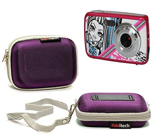 Navitech Violet résistant à leau Housse de la caméra Dur Compatible avec Monster High 7 Mega Pixel Kids Camera