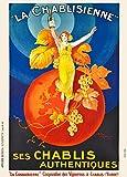 Vintage Beers, Wines and Spirits LA CHABLISIENNE, Francia, 1930, por Henry Monnier. Reproducción de tarjetas artísticas brillantes de 250 g/m² A3