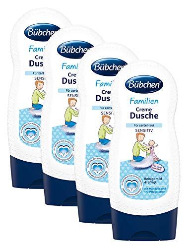 Preisvergleich Produktbild Bübchen Familien Creme Dusche sensitiv,  Duschcreme mit 1 / 3 Pflegelotion,  Waschlotion für zarte Haut,  Menge: 4 x 230 ml