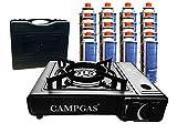 Gaskocher mit Koffer inclusive 16 Gaskartuschen