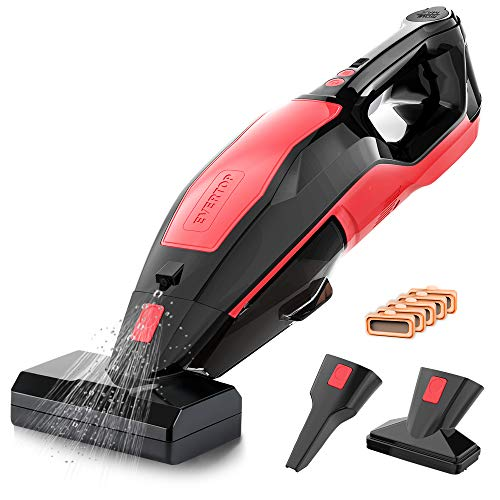 REEXBON Cordless Portable Carpet Cleaner, 110W/8500Pa Pet Stains Eraser 3 in 1 Wet Dry Vacuum Cleaner, Lightweight Handheld Carpet Vacuum for Upholstery