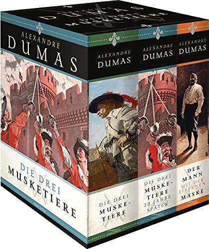 Alexandre Dumas - Die Drei Musketiere - Die Drei Musketiere 20 Jahre später - Der Mann mit der eisernen Maske (3 Bände im Schuber): Drei Bände in Kassette