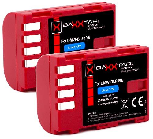 2x Baxxtar PRO batteria per Panasonic DMW BLF19 e con Infochip - per Panasonic Lumix DC G9 GH5 GH5s DMC GH3 GH4 GH4R - Sigma BP-61 ecc