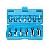 Capri Tools CP30002 S2 Hex Wrench Bit Socket Sets, Silver