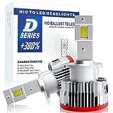 【HIDを超えるLED】SUPAREE 車検対応 d4s d4r ledヘッドライト 6500K 16000lm 35W 純正交換用 LED化 バルブ 加工不要 3年保証