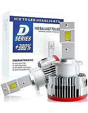 【HIDを超えるLED】SUPAREE 車検対応 d4s d4r ledヘッドライト 6500K 16000lm 35W 純正交換用 LED化 バルブ 加工不要