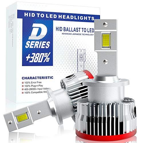 【HIDを超えるLED】SUPAREE 車検対応 d2s d2r ledヘッドライト 6500K 16000lm 35W 純正交換用 LED化 バルブ 加工不要 3年保証