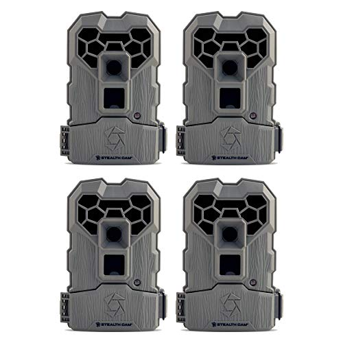 Stealth Cam 10MP Infrared Hunting Scouting Game Trail Camera w/Video, 4 Pack