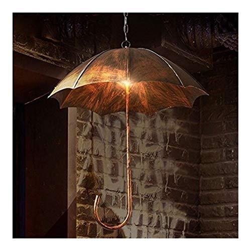 Schlafzimmer Kronleuchter Höhenverstellbare Hängelampe Vintage-Eisen-Pendelleuchte 5-Lichter Retro antike Industriependelleuchte Regenschirm Runde Wohnzimmer Esszimmer Loft Decken-Beleuchtung Ø50cm *