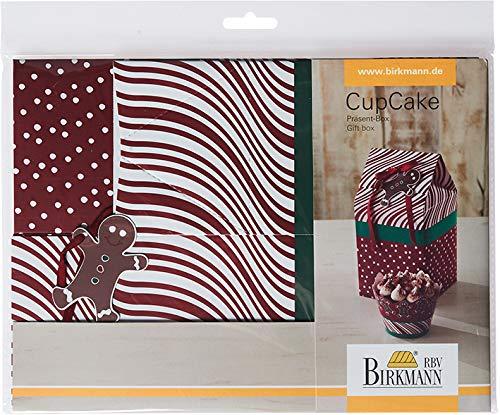 Abeba 441248 Boîte à Cadeau Candy Christmas pour Cup Cakes, Papier, Rouge/Vert/Blanc, 7 x 7 x 12,5 cm