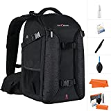 K&F Concept Professional Camera Backpack,15.6 ' Laptop Large Capacity Waterproof Nylon Photography Bag for DSLR Cameras,Tripod,Lenses