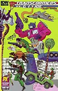 Sdcc 2014 Transformers Vs Gi Joe #1 Cvr B Variant