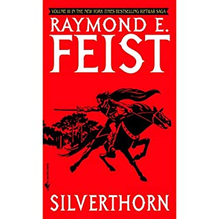 Silverthorn     Riftwar Cycle: The Riftwar Saga, Book 3              Auteur(s):                                                                                                                                 Raymond E. Feist                               Narrateur(s):                                                                                                                                 Nicholas Guy Smith                      Durée: 16 h et 1 min     25 évaluations     Au global 4,9
