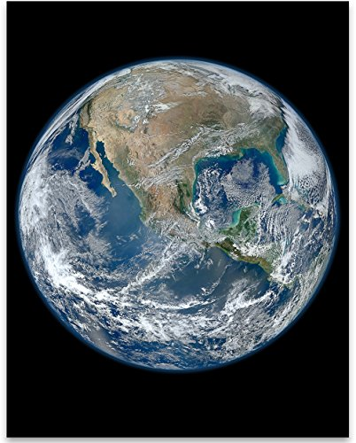 Earth The Big Blue Marble Photo - 11x14 Unframed Print - Perfect Vintage...