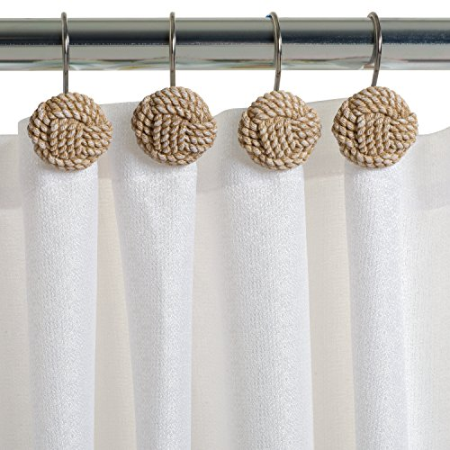Zenna Home Seaside Serenity Shower Curtain Hooks, Coastal Beach Theme Bathroom Accessory