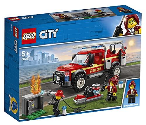 LEGO 60231 City Feuerwehr-Einsatzleitung , Set mit Feuerwehrauto und Wasserkanone, Spielzeuge für Kinder ab 5 Jahren