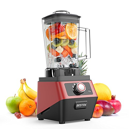 BESTEK 1400 Watts Commercial Blender with 2L BPA Free Pitcher, 3-Speed Control Programmed Settings Smoothie Maker-UL Certified