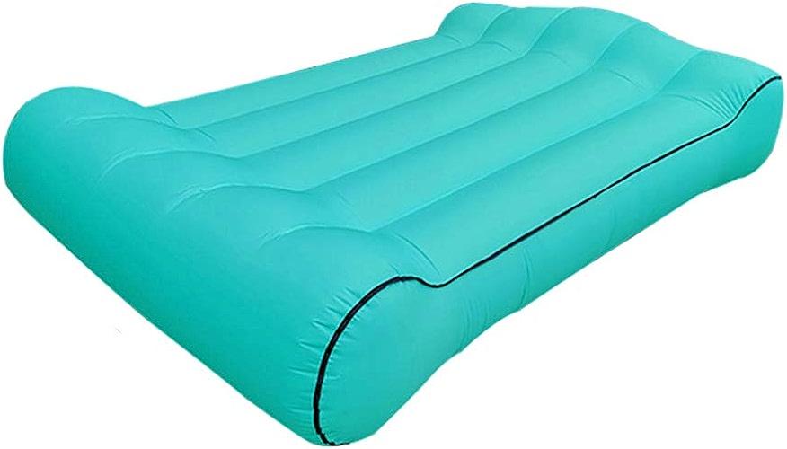 DDSGG Pouf Gonflable Exterieur,Canapé Lit d'air, Sofa Imperméable à L'air avec Le Sac De Transport, pour Camping en Bord De La Mer Et Voyage en Plein Air