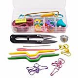SODIAL Caja de Conjunto de herramientas de 56 piezas de Agujas de tejer Gancho...