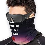 ShiHaiYunBai Braga Cuello Moto Calentador de Cuello Deporte Calentador Pasamontañas Polar Multifuncional Máscara Make Canada Great Again Men Women Face Masks Headwear Neck Warmer Windproof Mask
