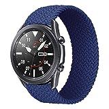 iBazal 22mm Correa Galaxy Watch 46mm Pulsera Nylon Banda Trenzada Lazo Individual Repuesto para Samsung Galaxy Watch 3 45mm/Gear S3 Frontier Classic, Huawei Watch GT/GT 2 46mm - 6 Azules