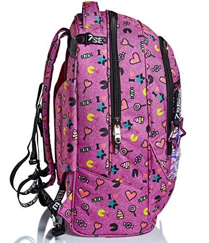 518ZGzod57L - Trolley Backpack Seven Jack 2WD Starry Rainbow