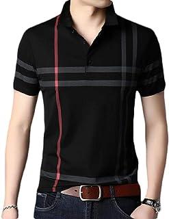 [Cinq chats(サンクシャ)] ポロシャツ 半袖 シャツ チェック カジュアル シンプル オシャレ ゴルフウェア メンズ