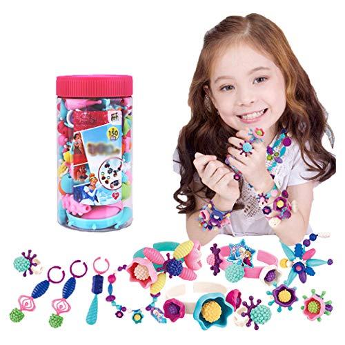 Bangcool 150PCS Snap Kralen Set DIY Pop Kralen Sieraden Maken Kraal voor Ketting Armband Ring Baby & Peuter Speelgoed