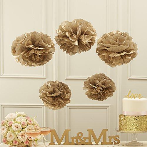 Ginger Ray Or métallique Papier de Soie Pom poms Parti & Mariage décorations - Pastel Perfection