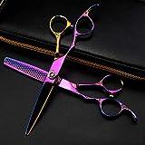 Colorful Scissors Tijeras Profesionales de peluquería, Juego Opcional para peluquería o Uso doméstico, E, Juego de 6 Pulgadas