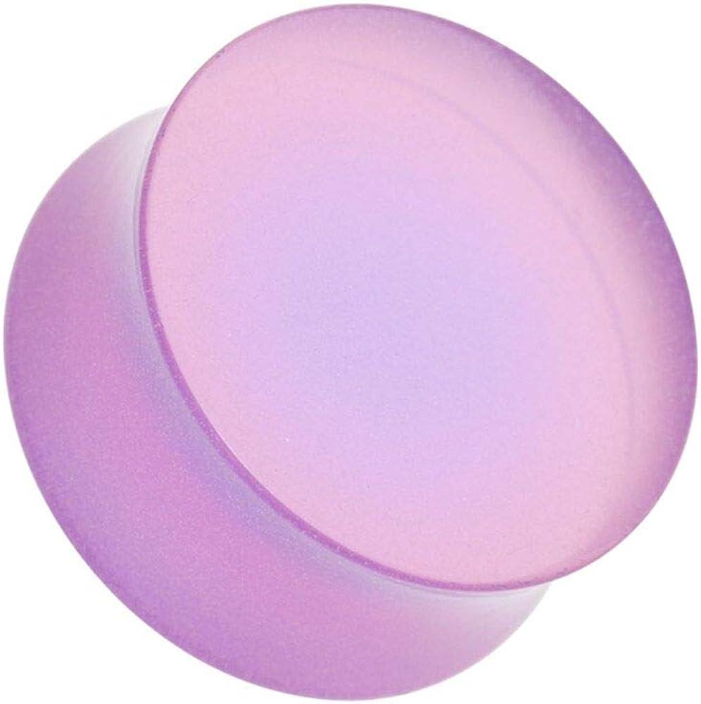 Covet Jewelry Lilac Purple Acrylic Glow in The Dark Double Flared Ear Gauge Plug